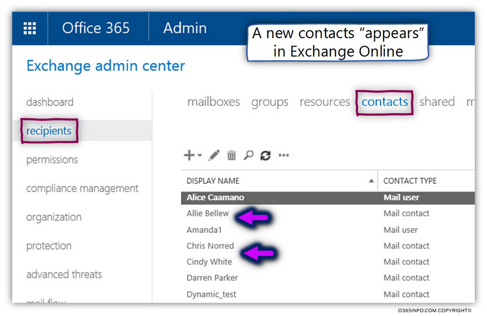 Bulk Import Contacts to Exchange Online Using PowerShell script -06