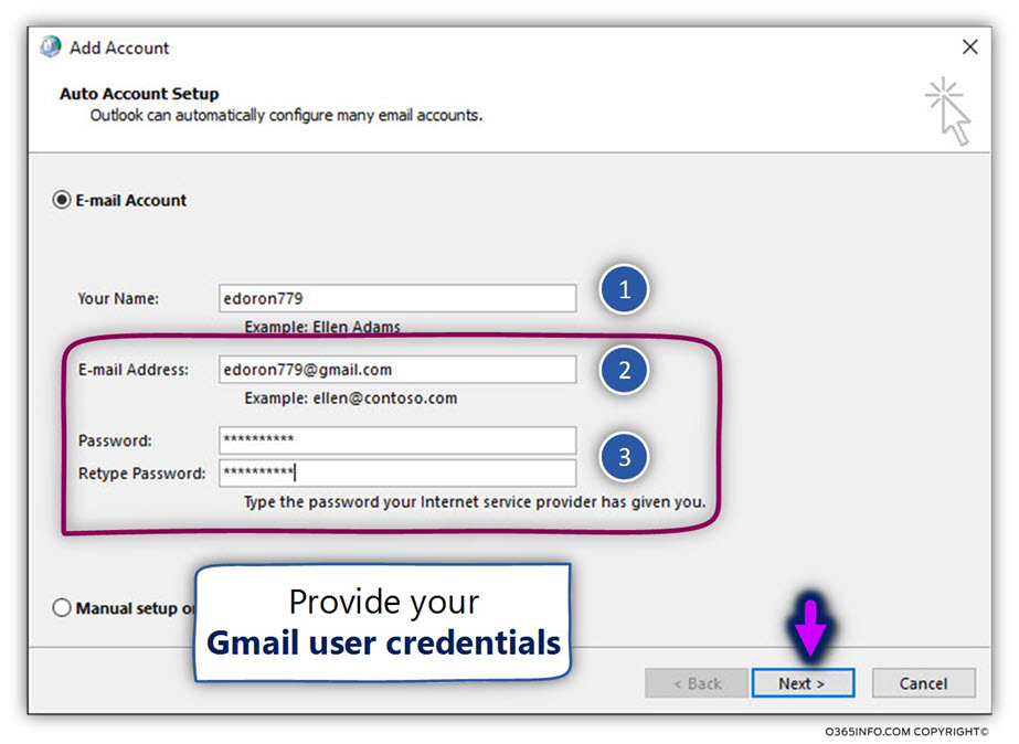 Outlook Gmail , automatically |Configure Outlook connect