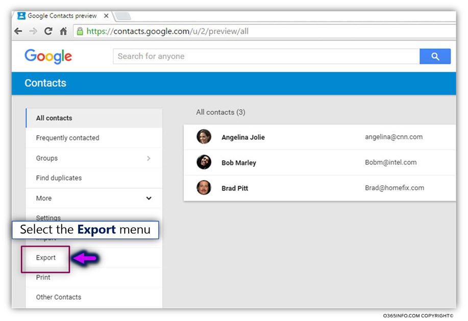 Export google contacts -01