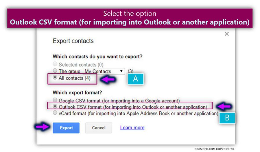 Export google contacts -05