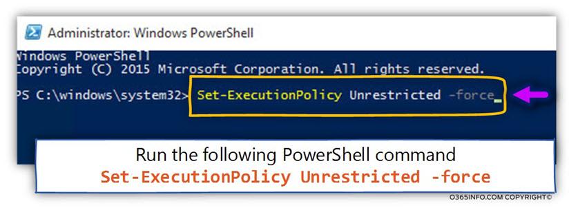 Running a PowerShell script – first time configuration -03