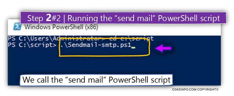 Running the send mail PowerShell -01