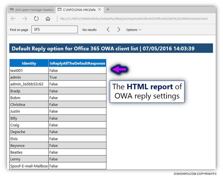 Using the OWA reply setting PowerShell script -03