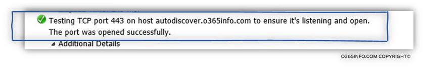 Step 4 of 9 - Testing TCP port 443 on host autodiscover.o365info.com -02