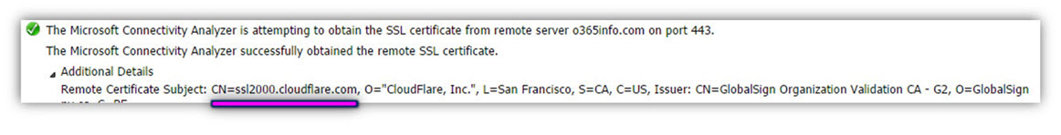 Step 3 of 30- Attempting to obtain the SSL certificate from remote server o365info.com-02