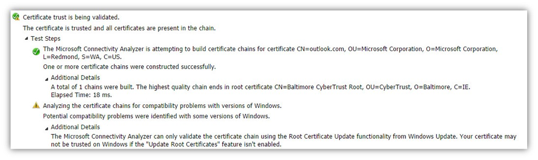 Step 20 of 30- Testing the autodiscover-s.outlook.com SSL certificate to make sure it's valid-03