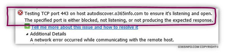 Step 4 of 20 - Testing TCP port 443 on host autodiscover.o365info.com-02
