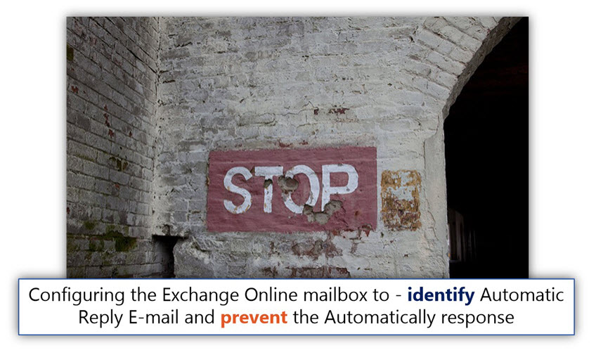 Configuring the Exchange Online mailbox to - identify Automatic Reply E-mail