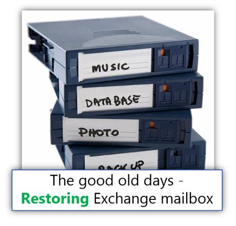 The good old days - Restoring Exchange mailbox