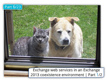 Exchange web services in an Exchange 2013 coexistence environment | Part 1/2