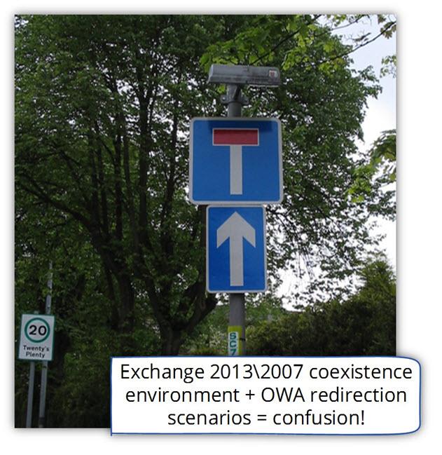 Exchange 2013 CAS server OWA redirection scenarios