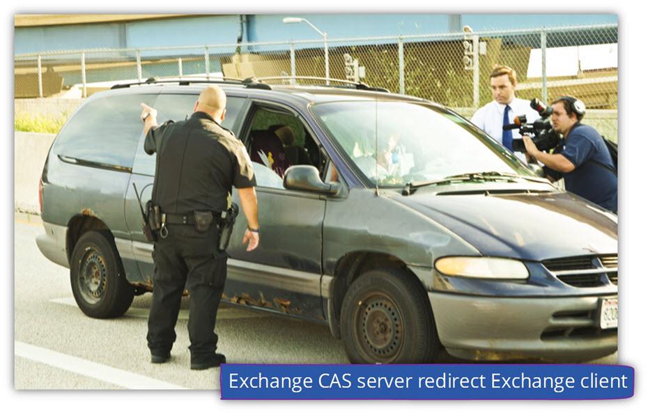 Exchange CAS server redirect Exchange client