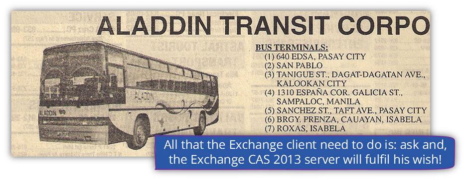Exchange CAS 2013 server as a jenny