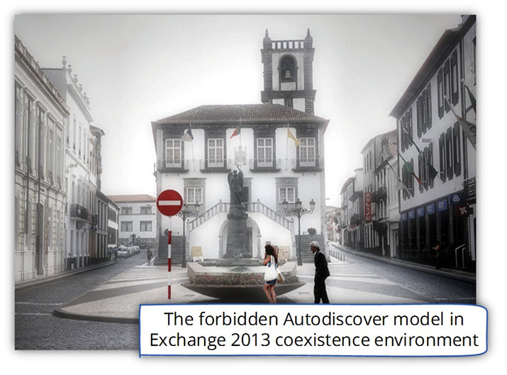 The forbidden Autodiscover model in Exchange 2013 coexistence environment