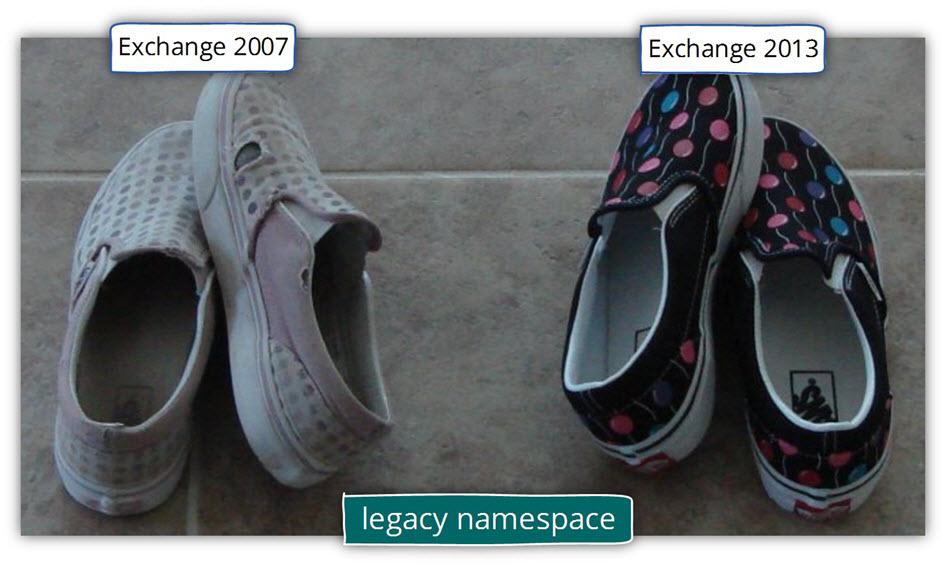 Exchange 2007 coexistence - legacy namespace