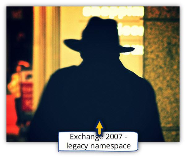 Exchange 2007 - legacy namespace
