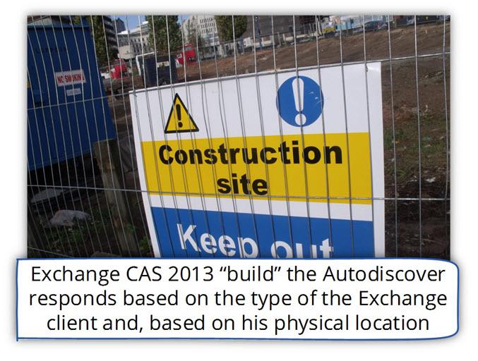 Exchange CAS 2013 build the Autodiscover respond