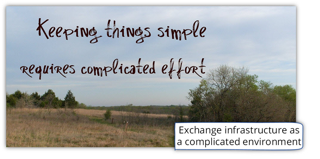 Exchange complicated infrastructure