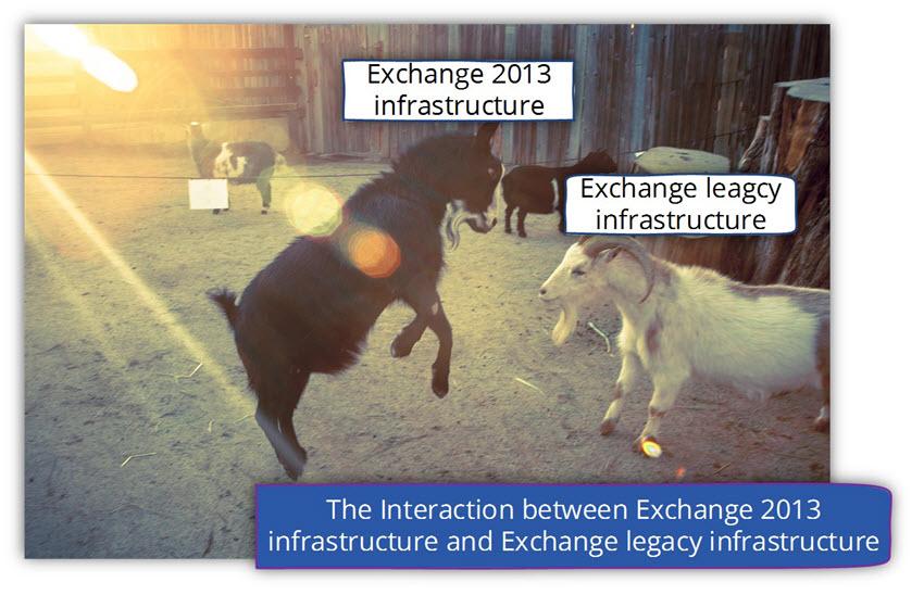 The Interaction between Exchange 2013 infrastructure and Exchange legacy infrastructure