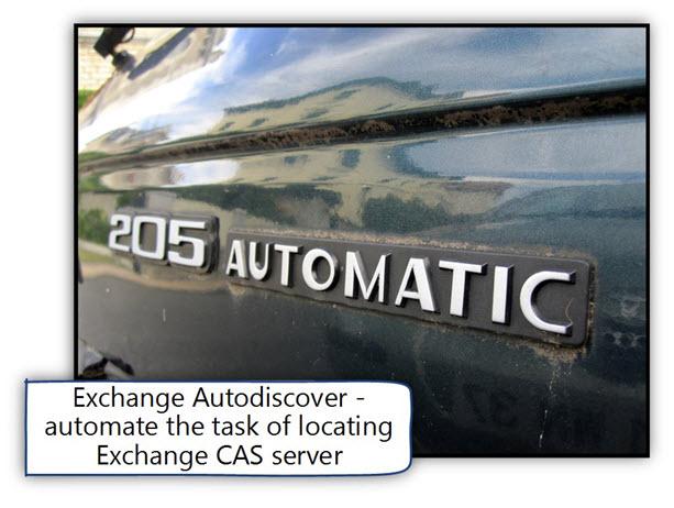Autodiscover – automatic process
