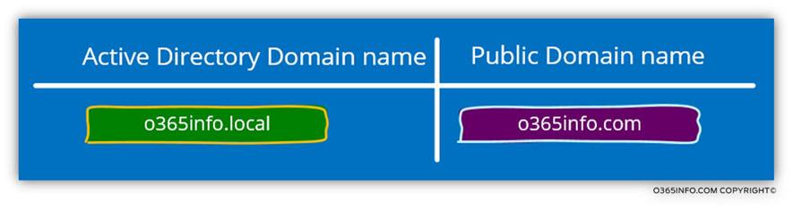 Public versus private domain name