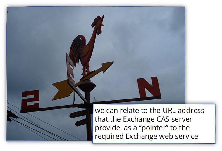 updating the Exchange CAS server web services URL address