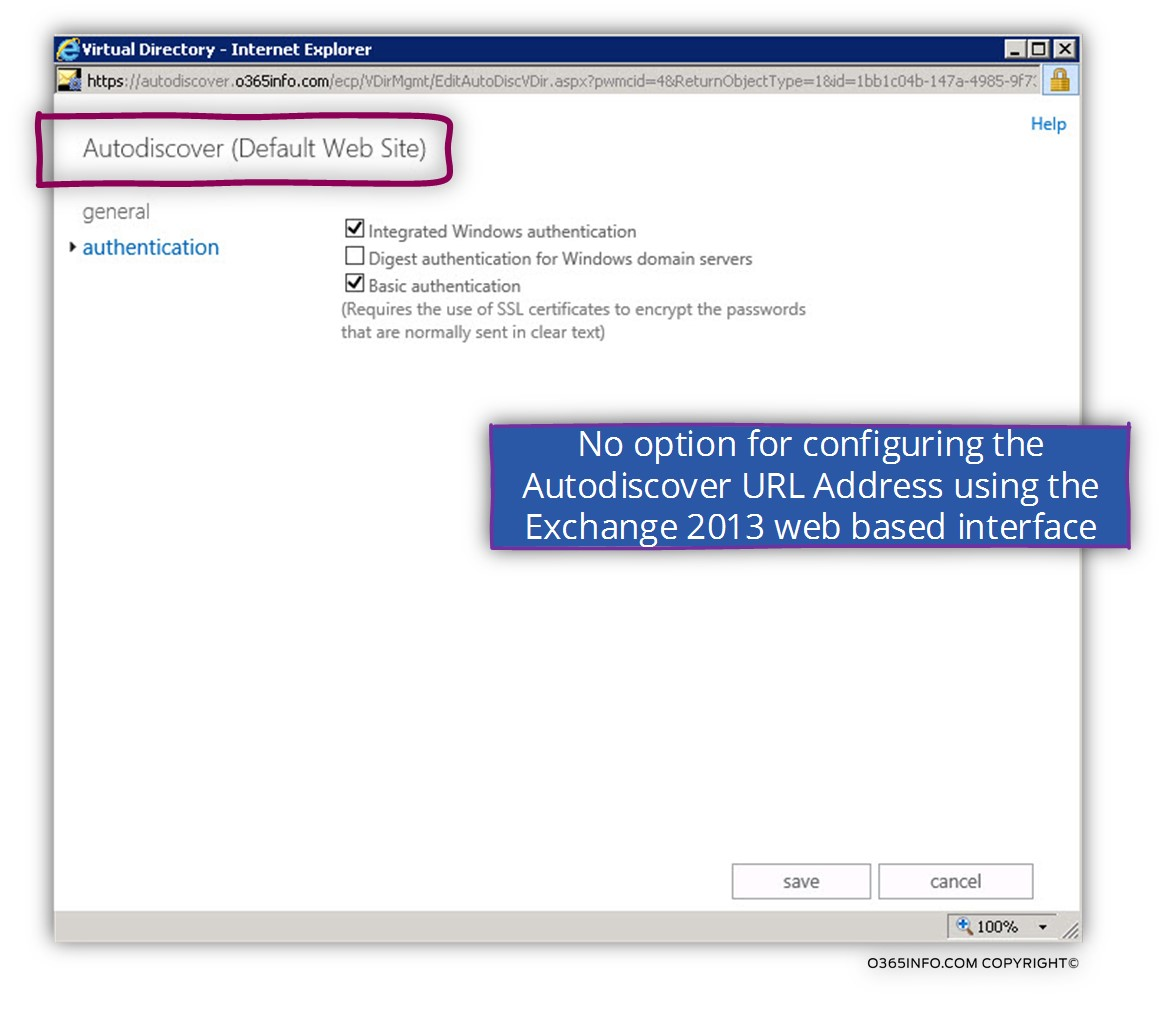 Exchange web services –Autodiscover using Exchange 2013 web management 02