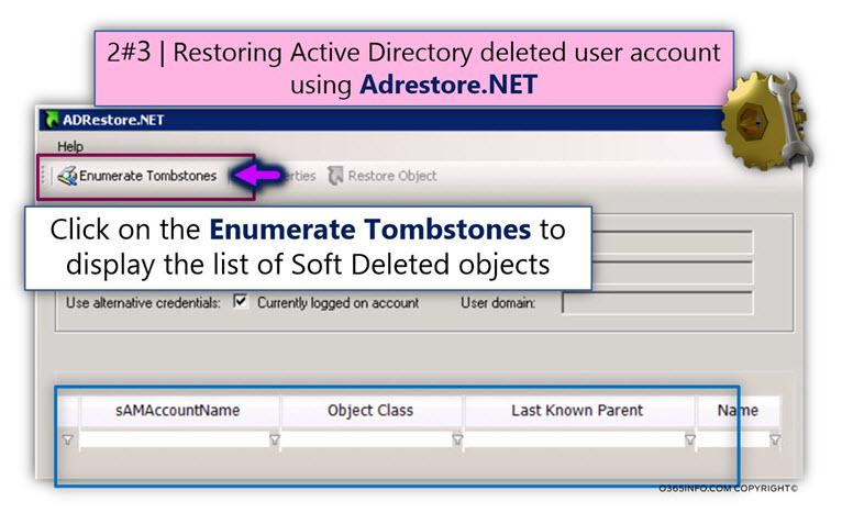 Using AdRestore.net for restoring Active Directory user account -01