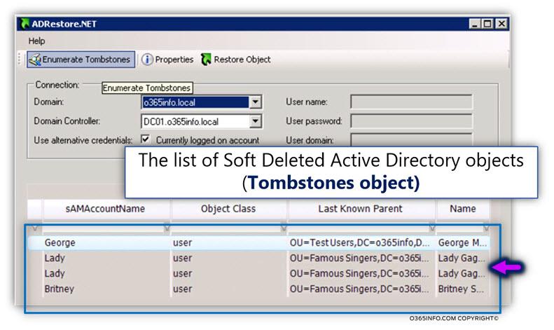 Using AdRestore.net for restoring Active Directory user account -02