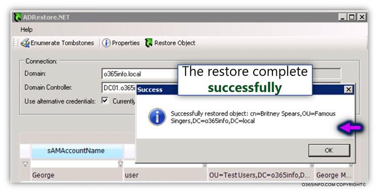 Using AdRestore.net for restoring Active Directory user account -04