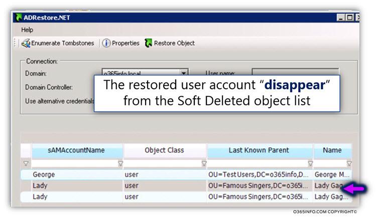 Using AdRestore.net for restoring Active Directory user account -05