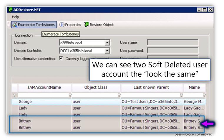 Using AdRestore.net for restoring Active Directory user account -07