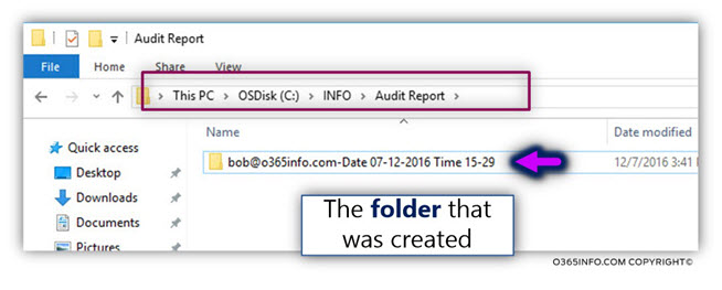 Export information to files using the o365info PowerShell script -04-