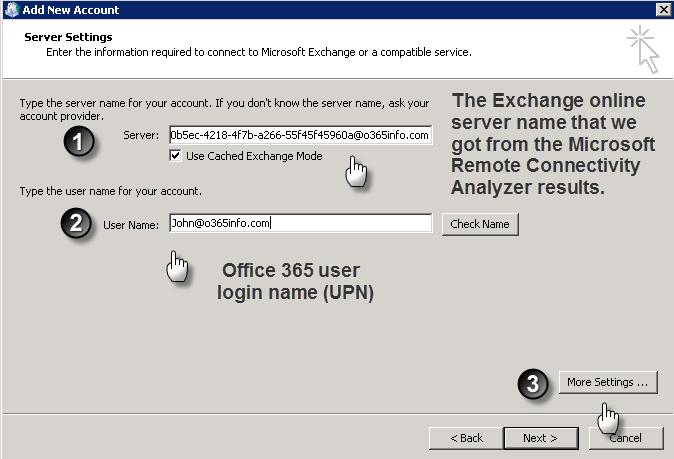 How to Manually Configure Outlook (Office 365) - o365info.com