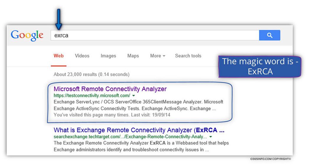 Microsoft Remote Connectivity Analyzer (ExRCA