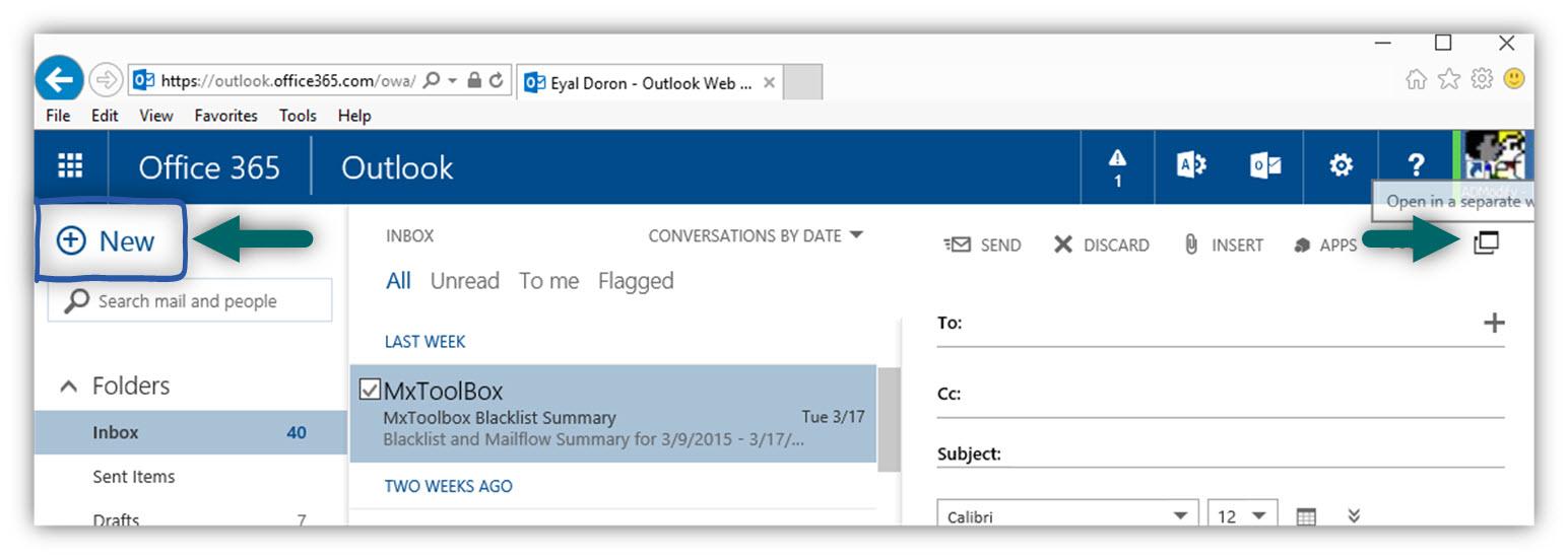 Sending E-mail as attachment using OWA -01