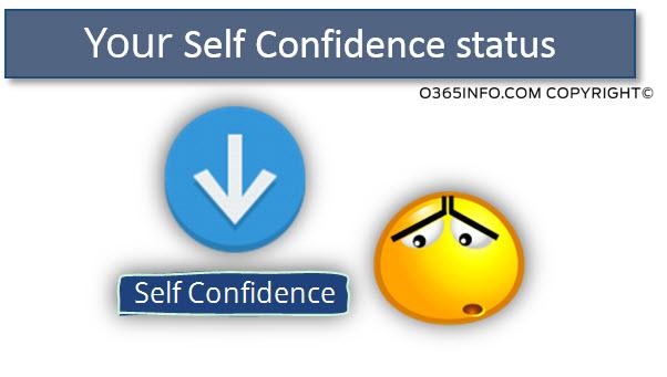 Your Self Confidence status