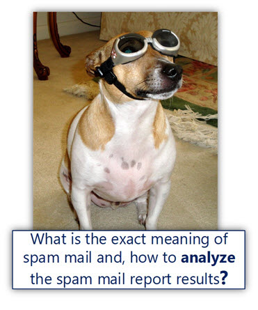 What is the exact meaning of spam mail and, how to analyze the spam mail report results