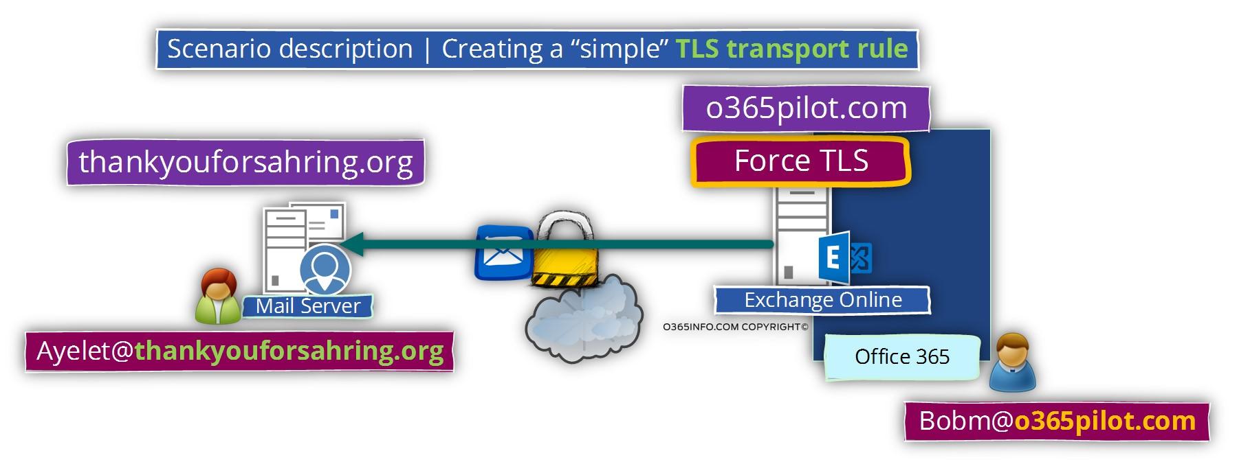 Scenario description - Creating a simple TLS transport rule