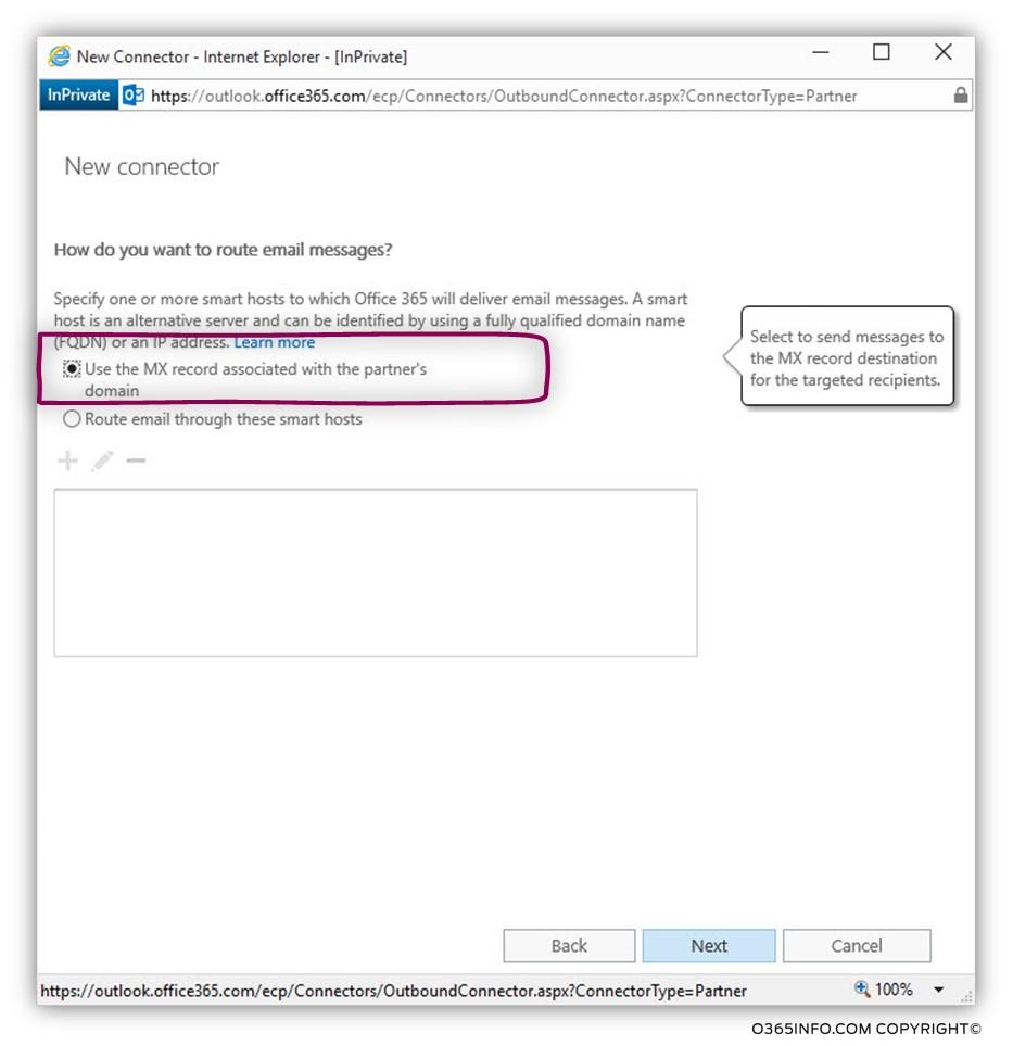 Creating a custom force TLS - Exchange Online send connector -05