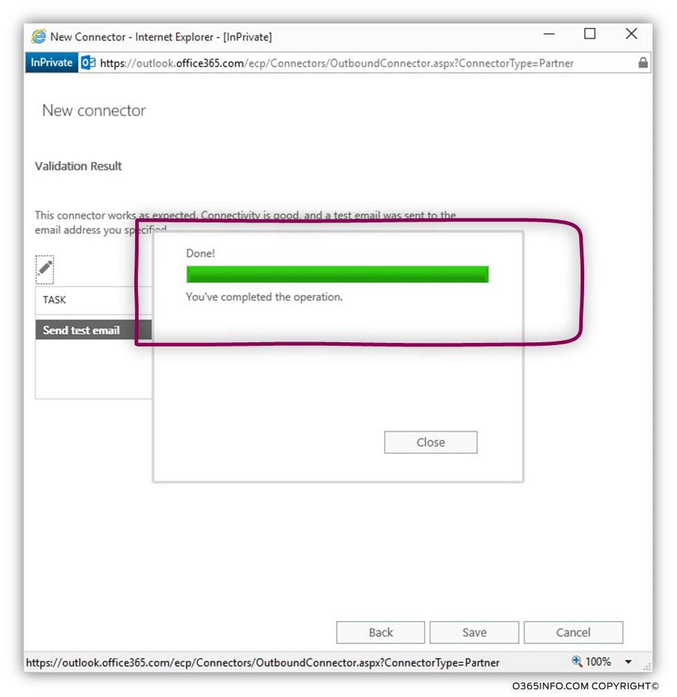 Creating a custom force TLS - Exchange Online send connector -09