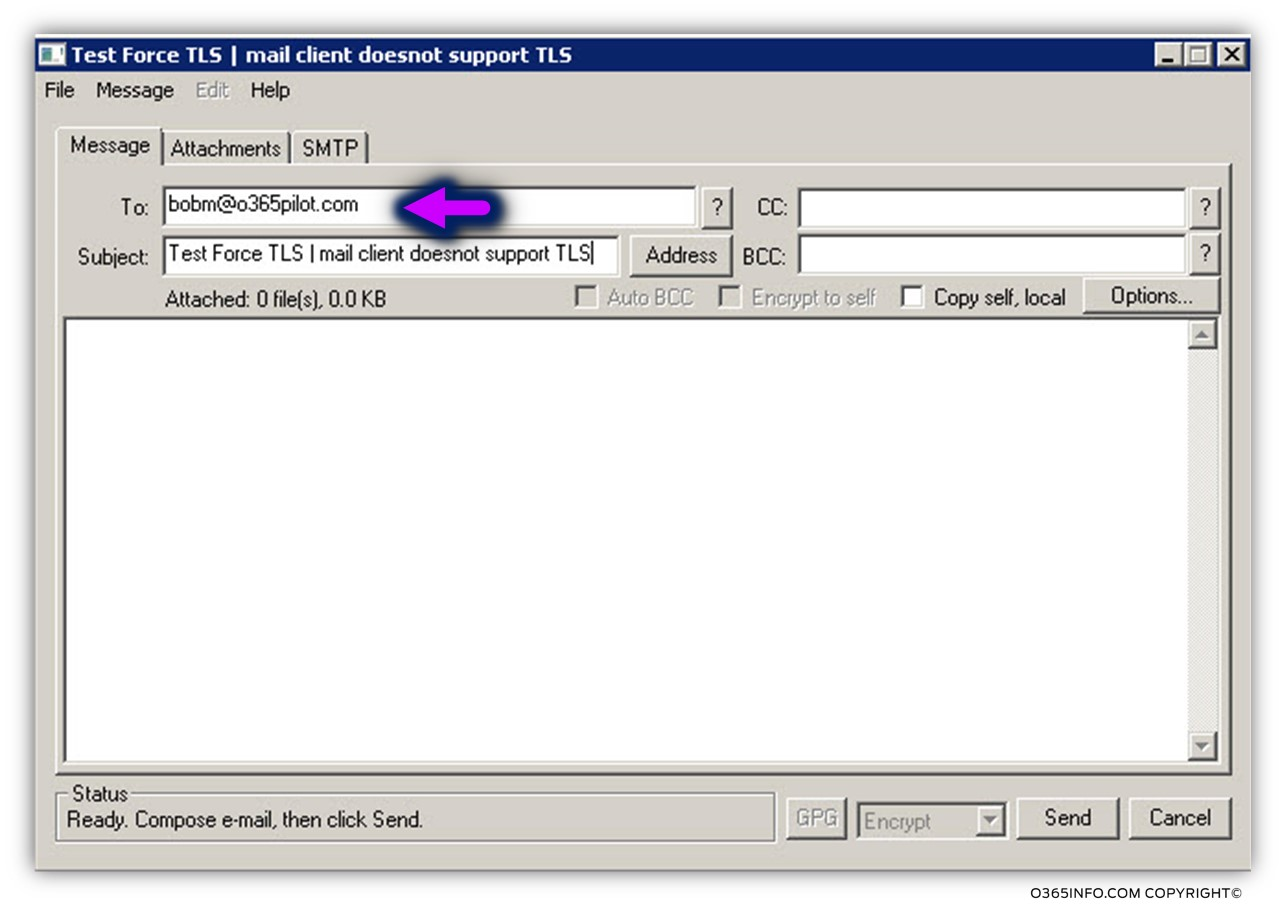 Testing the force TLS settings using mail client -03