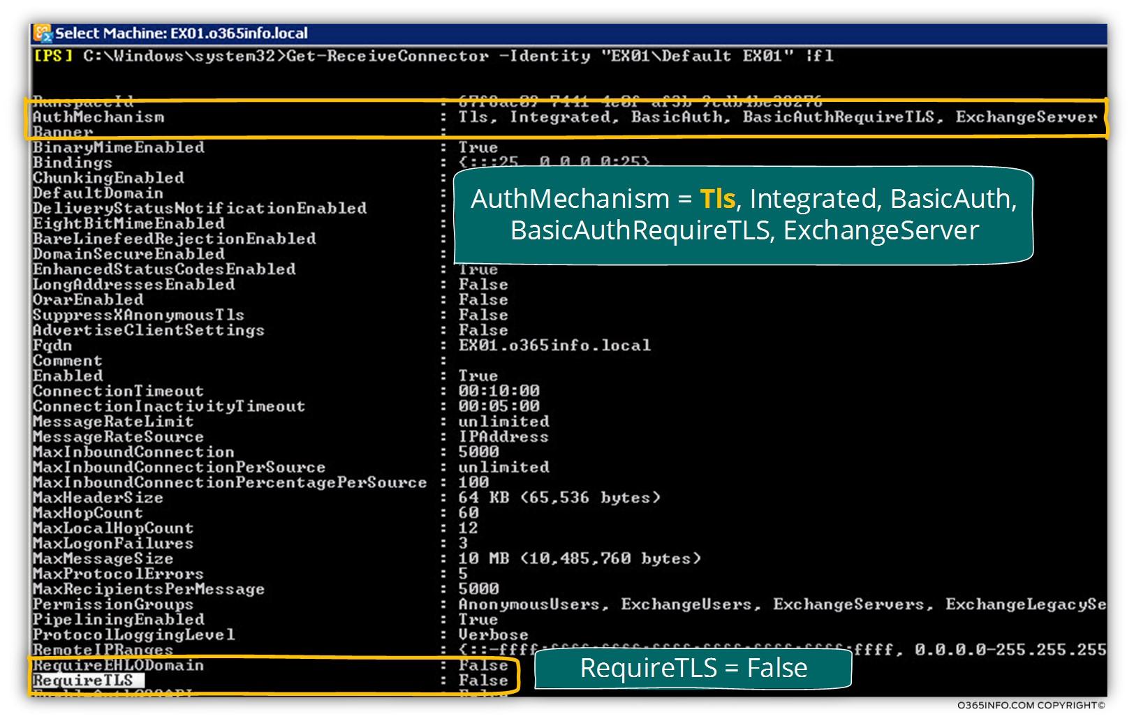 Exchange on-Premises server - Receive connector - opportunistic TLS