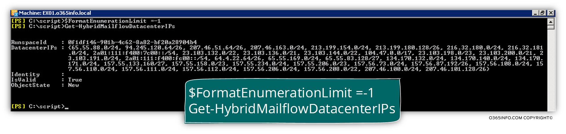 Get the IP address of Exchange Online data center -01