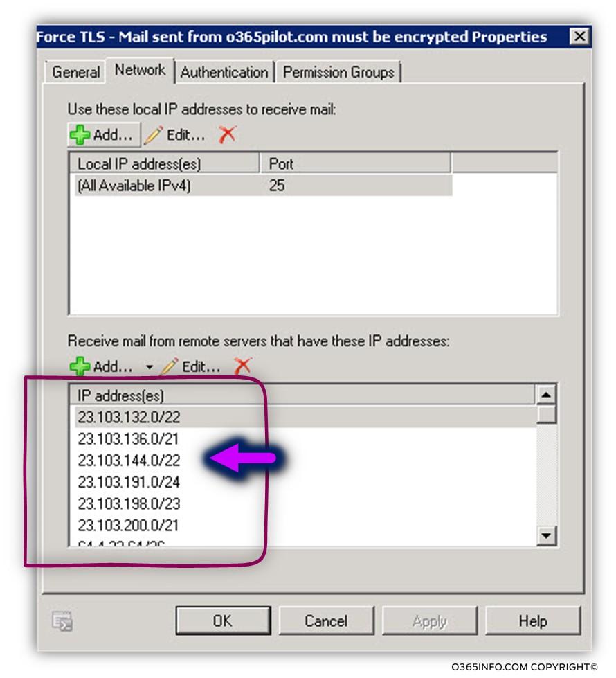 Get the IP address of Exchange Online data center -04