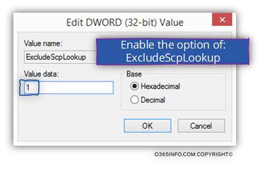 Enable the option of - ExcludeScpLookup