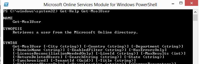 Get-Help Get-MsolUser #0B