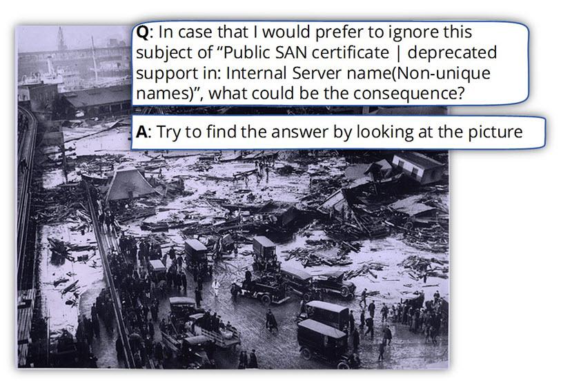 Ignore Public SAN certificate deprecated support in Internal Server name