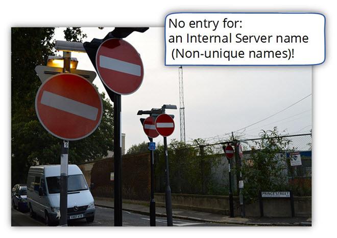 No entry for a non-unique names and Private domain suffix