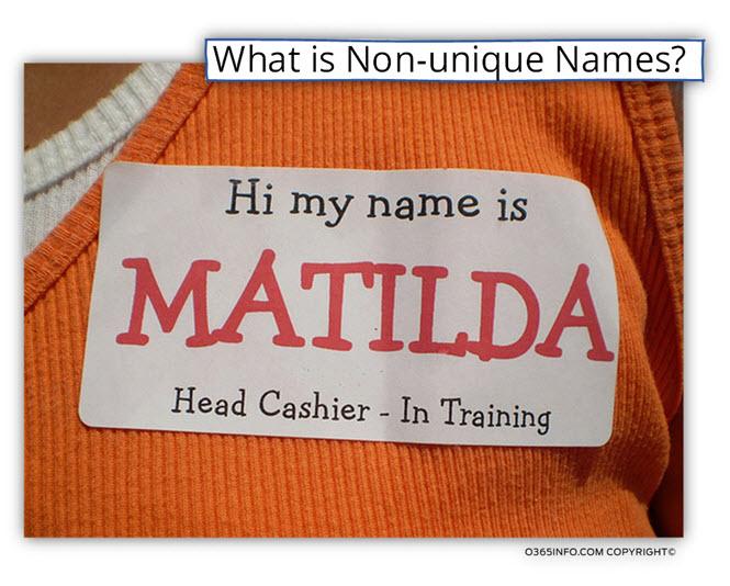 What is Non-unique Names